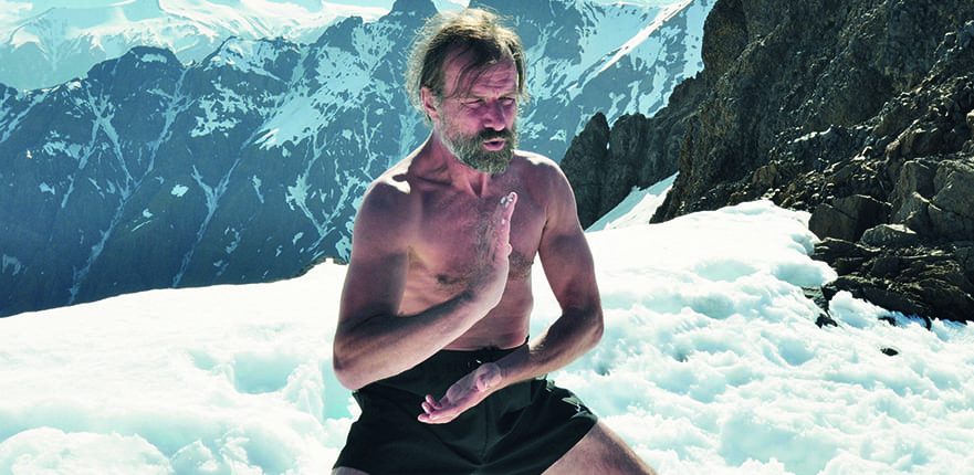 Wim Hof warming up through t'ai chi