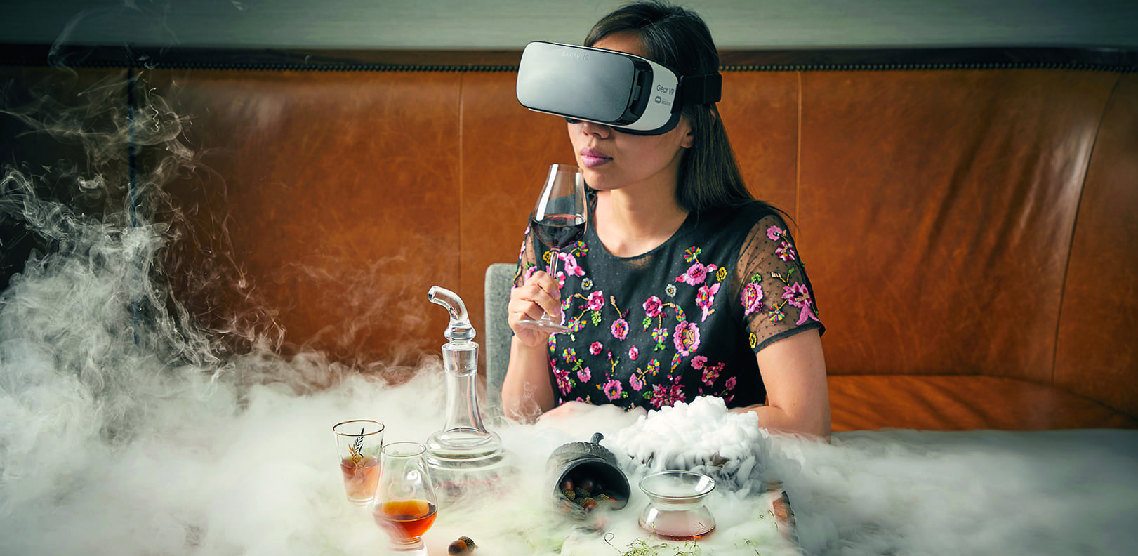Sky-high bar Baptiste & Bottle takes mixology to new creative heights with its virtual-reality cocktail experience.