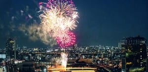 The Sumidagawa Fireworks, japan