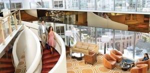 Conrad Chicago hotel atrium