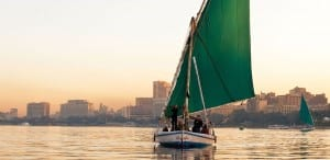 A felucca on the Nile, Cairo