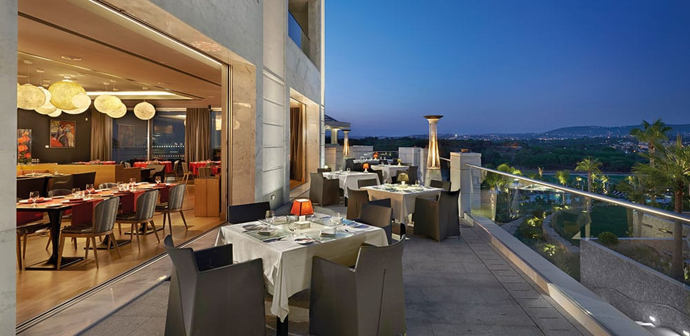 Terrace dining at Gusto by Heinz Beck