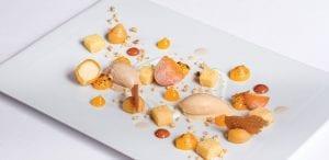 Citrus and egg sweets, a dessert by Portuguese chef José Avillez