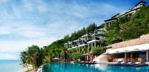 Cabana pool at Conrad Koh Samui.