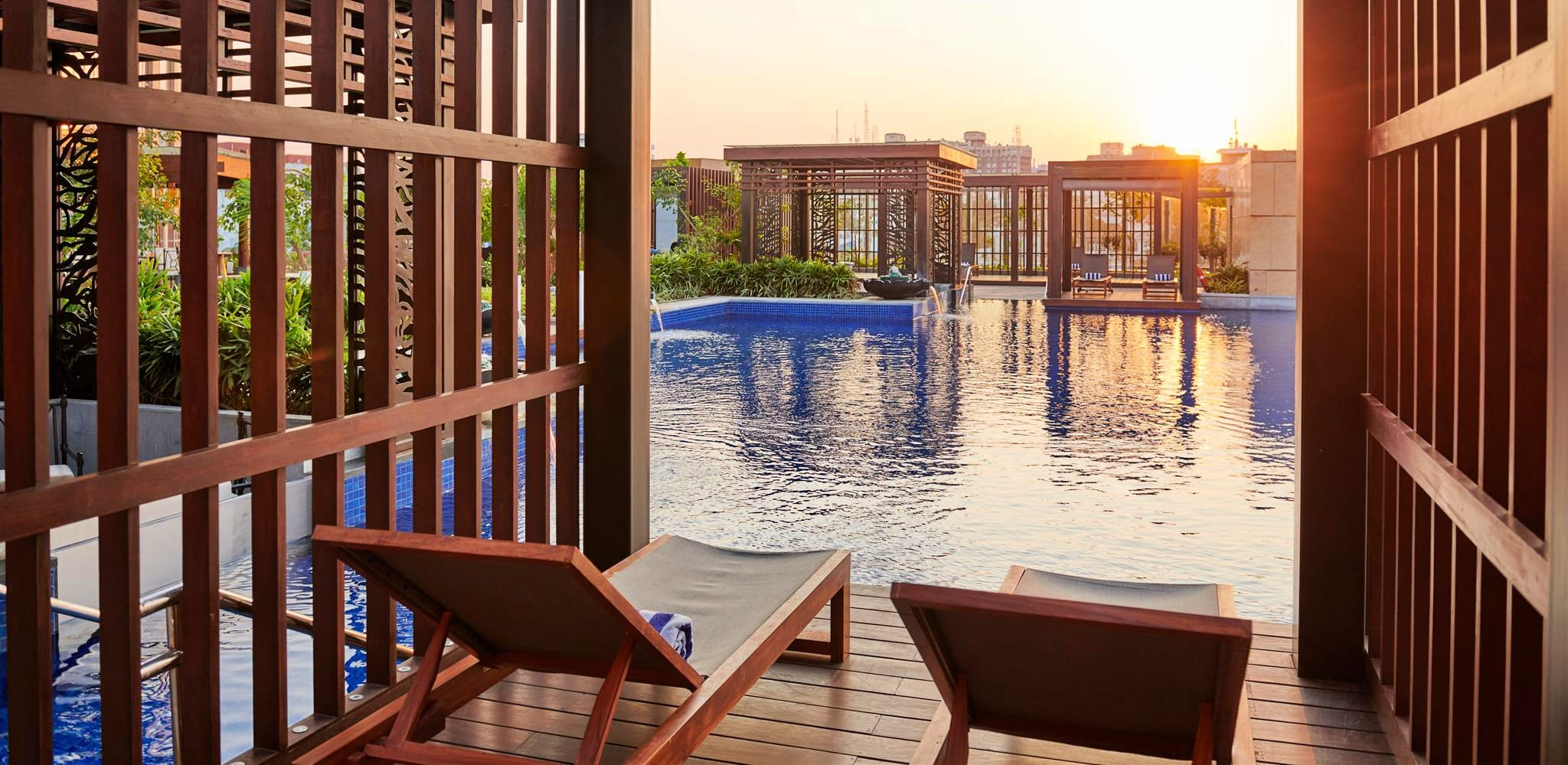 Poolside Cabana at Conrad Bengaluru