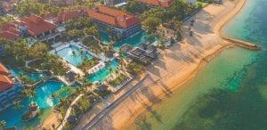 Aerial view of Conrad Bali