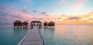 Sunset at Conrad Maldives Rangali Island