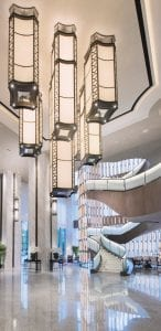 The Glass Staircase at Conrad Guangzhou